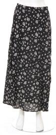 Full Length Petal Pattern Skirt. skt-g.