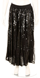 Sequined Beaded Full Length Skirt. skt-jb.